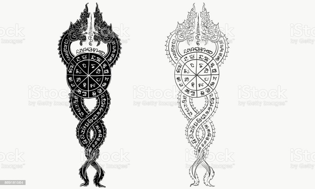 Thaise Traditionele Tattoo Stockvectorkunst En Meer Beelden