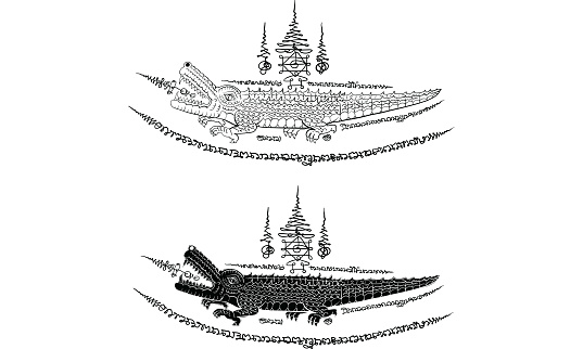 Thai Traditional Tattoo Stock Illustration - Download Image Now