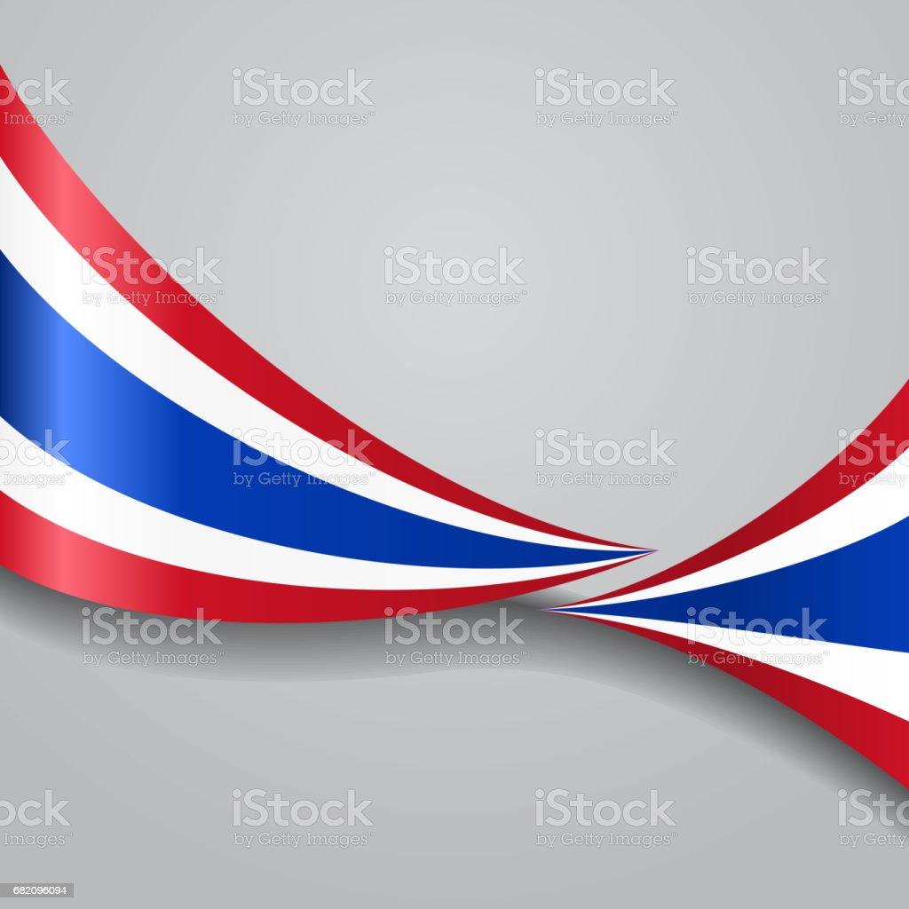 タイの波型フラッグ。ベクトルイラストレーションます。 ベクターアートイラスト