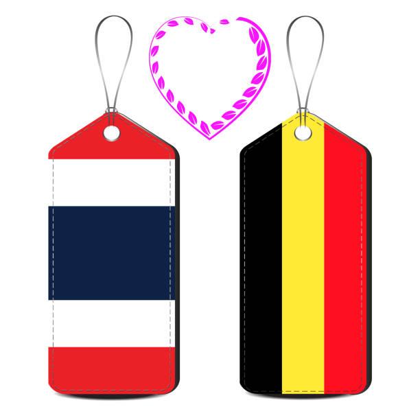 thailand und belgien liebesbeziehung - pattaya stock-grafiken, -clipart, -cartoons und -symbole