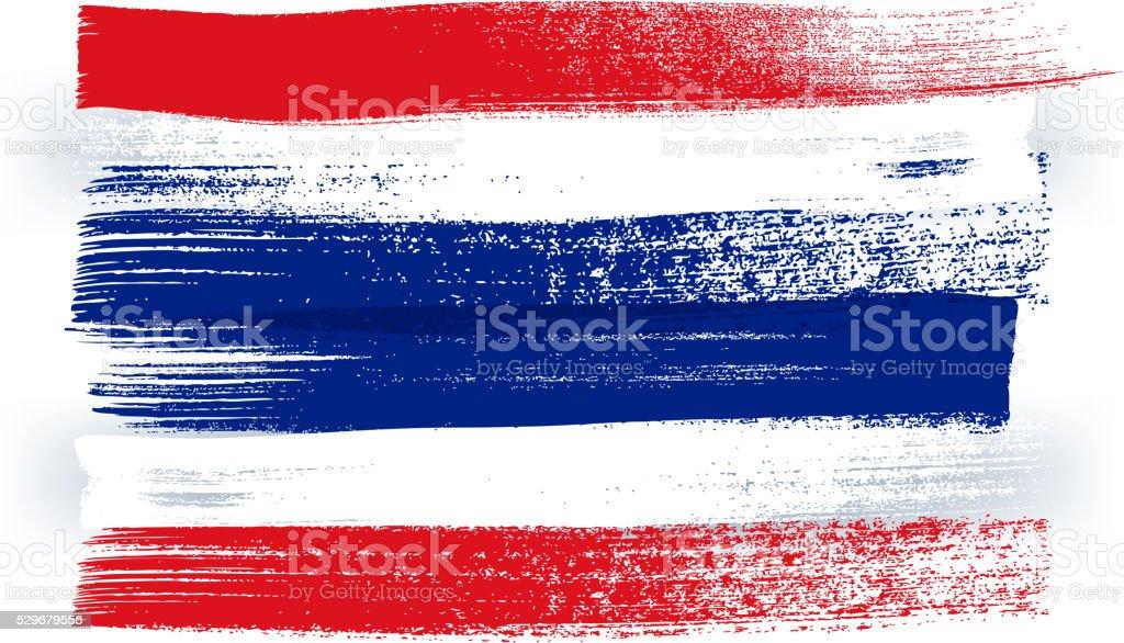 Thailand bunte mit Pinselstrichen Gemalte Flagge – Vektorgrafik