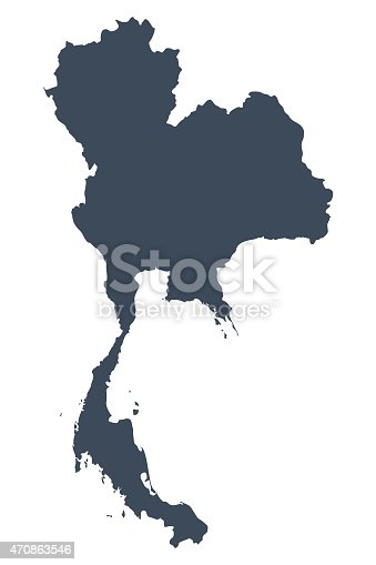 istock Thailand country map 470863546
