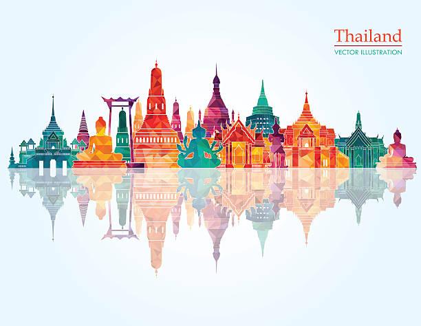 thailand detailed skyline. vector illustration - 泰國 幅插畫檔、美工圖案、卡通及圖標