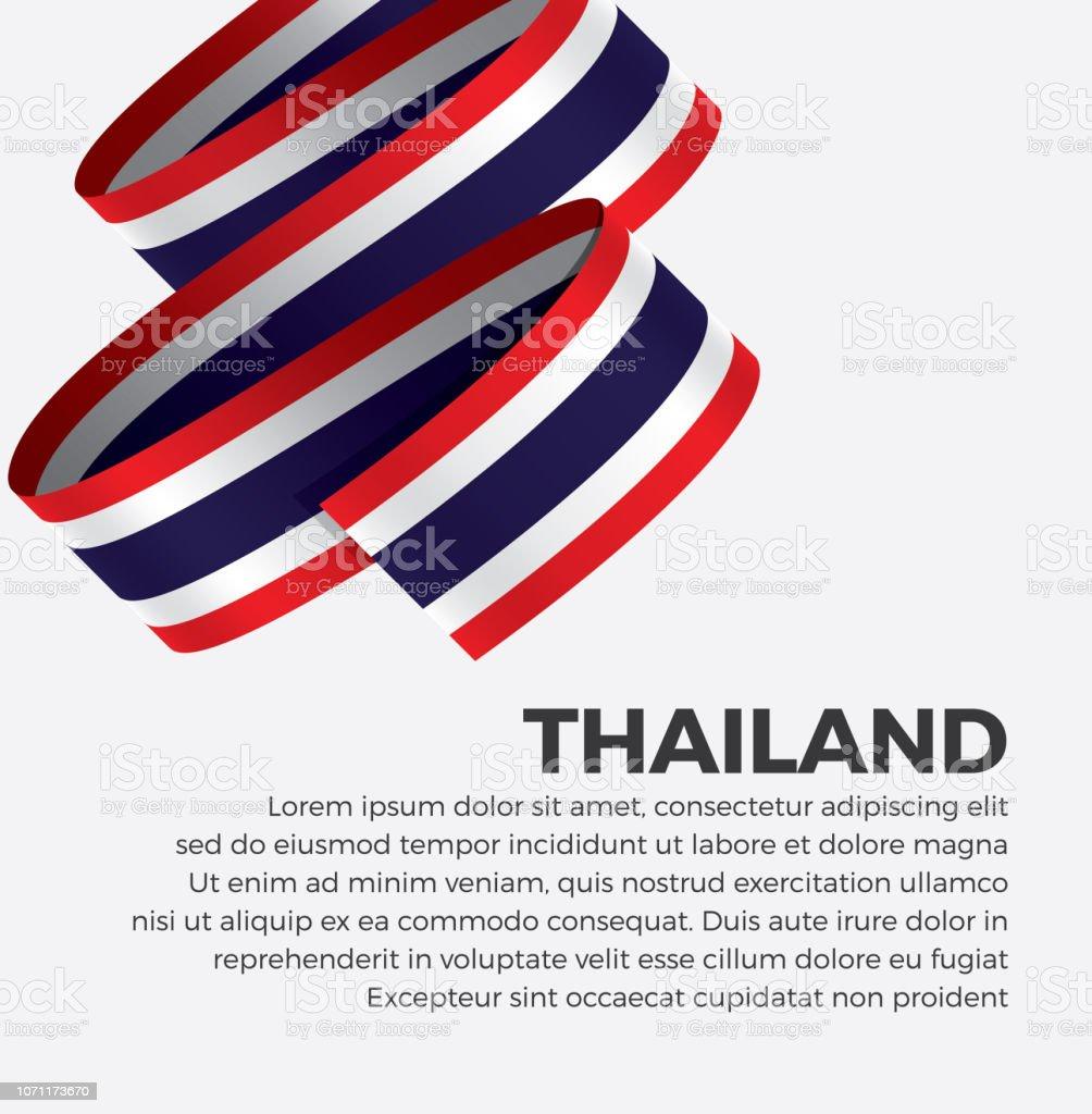 タイの旗の背景 ベクターアートイラスト