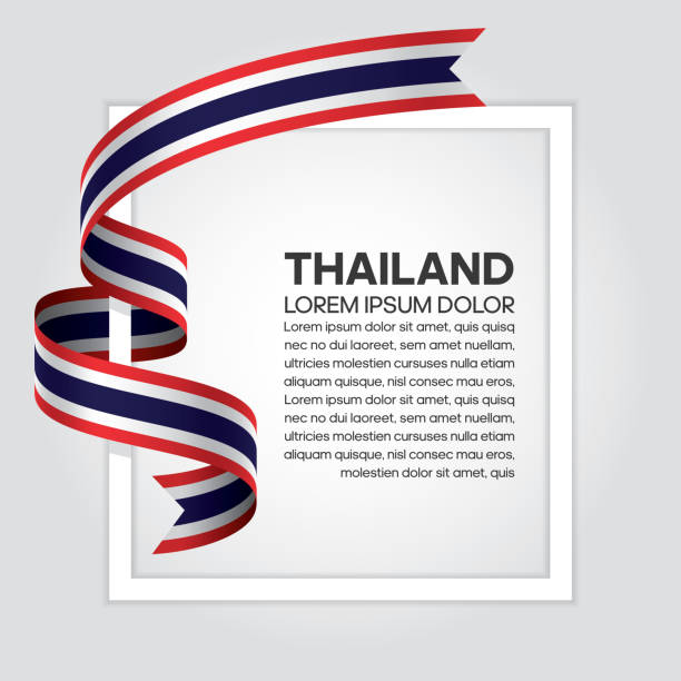 thailand flag background - thai flag stock illustrations, clip art, cartoons, & icons
