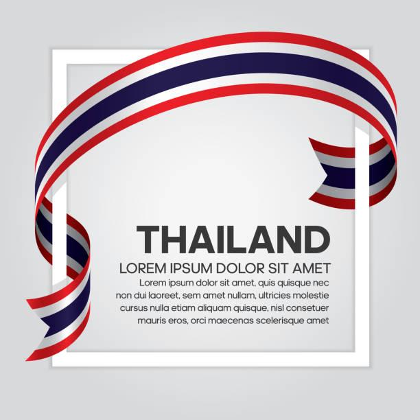 タイ旗の背景 ベクターアートイラスト