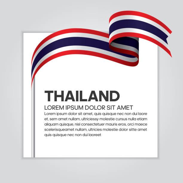 ilustraciones, imágenes clip art, dibujos animados e iconos de stock de tailandia bandera de fondo - bandera tailandesa