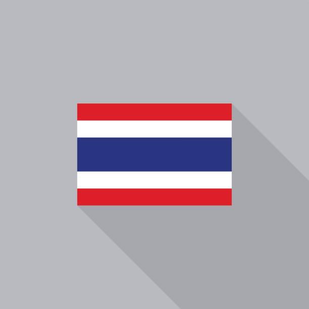 Thailand flag flat design vector illustration ベクターアートイラスト