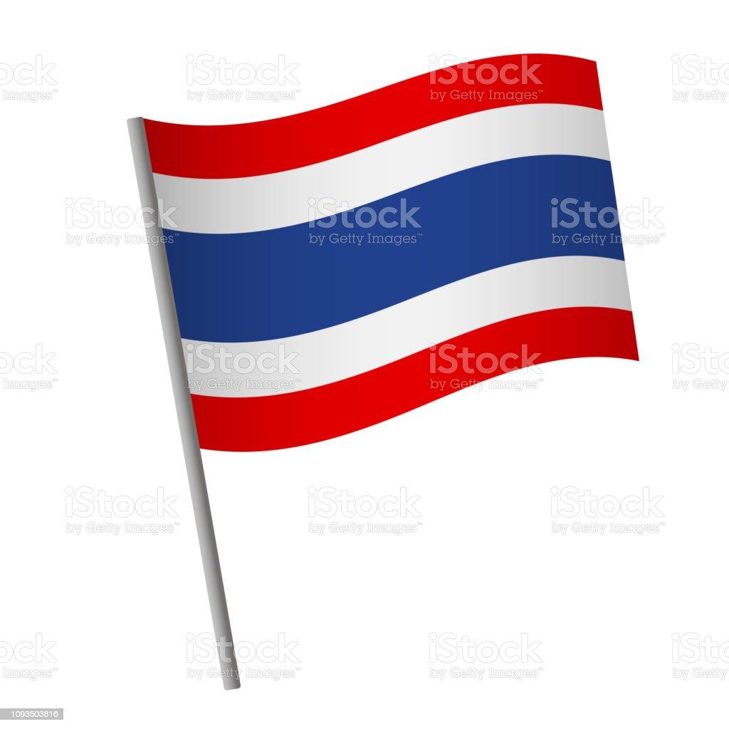 タイの旗のアイコン。 ベクターアートイラスト