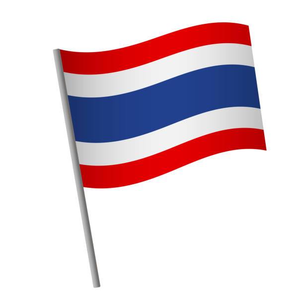 thailand flag icon. - thai flag stock illustrations, clip art, cartoons, & icons