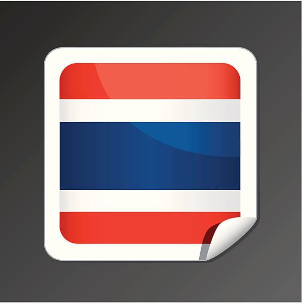 タイ旗のアイコン ベクターアートイラスト