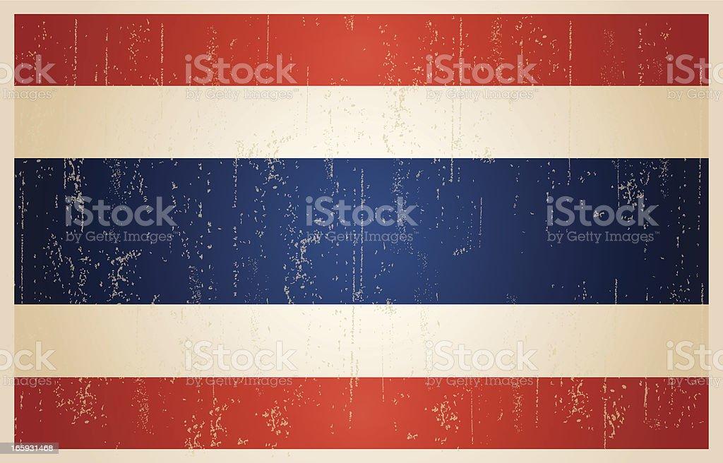 タイ旗とビンテージスタイルのグランジます。 ベクターアートイラスト