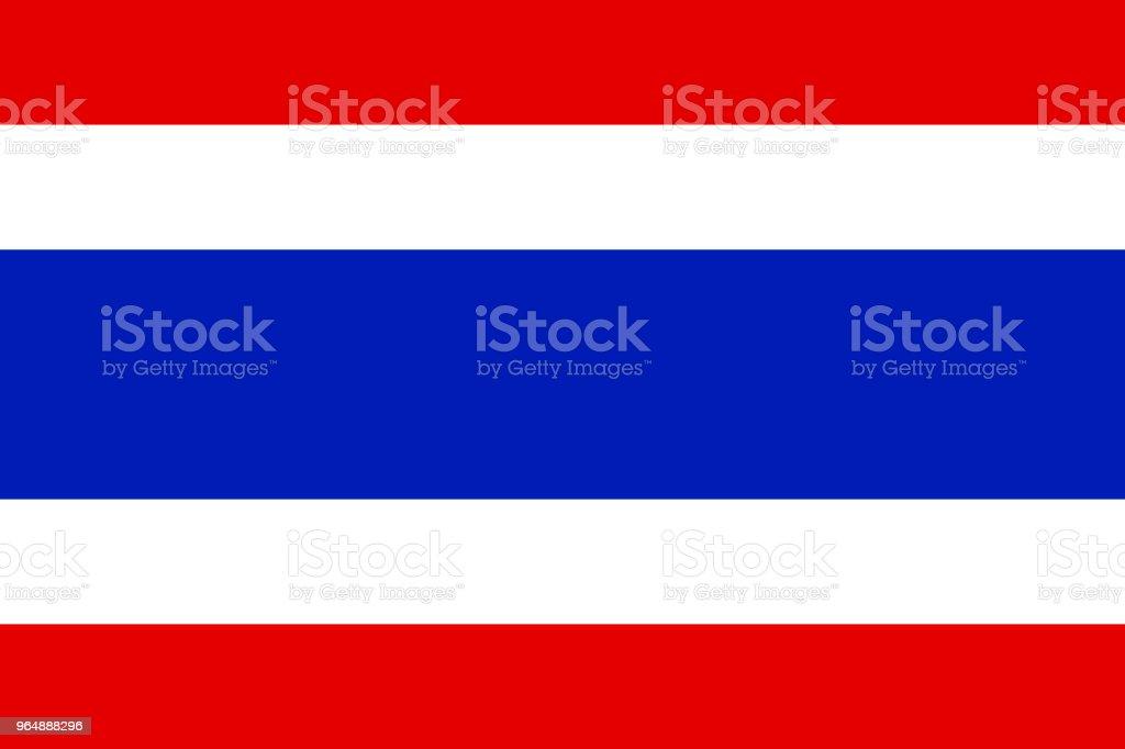 タイの国旗、国旗、タイのベクトル イラスト ベクターアートイラスト