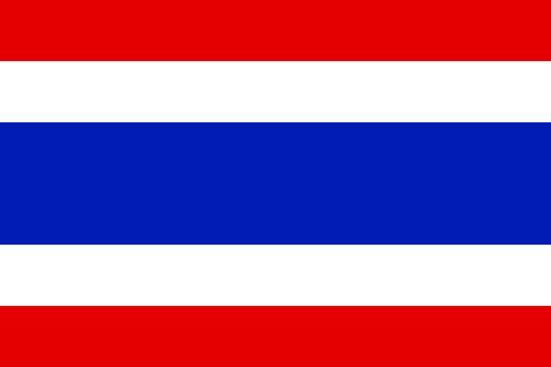 thailand flag, national flag of thailand, vector illustration - thai flag stock illustrations, clip art, cartoons, & icons