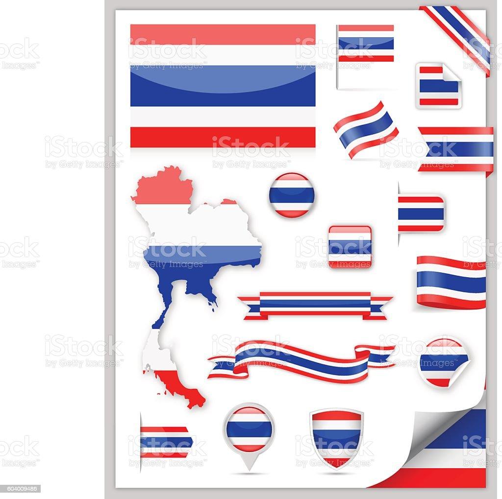 Thailand Flag Set - Vector Collection – Vektorgrafik