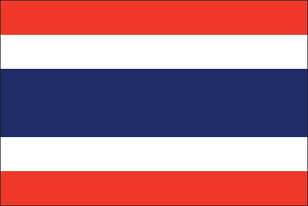 Thailand Flagge – Vektorgrafik