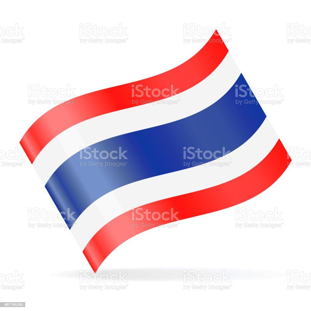 タイの旗のベクトルを振ってアイコン ベクターアートイラスト