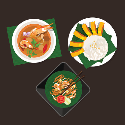 Thai food stock illustrations