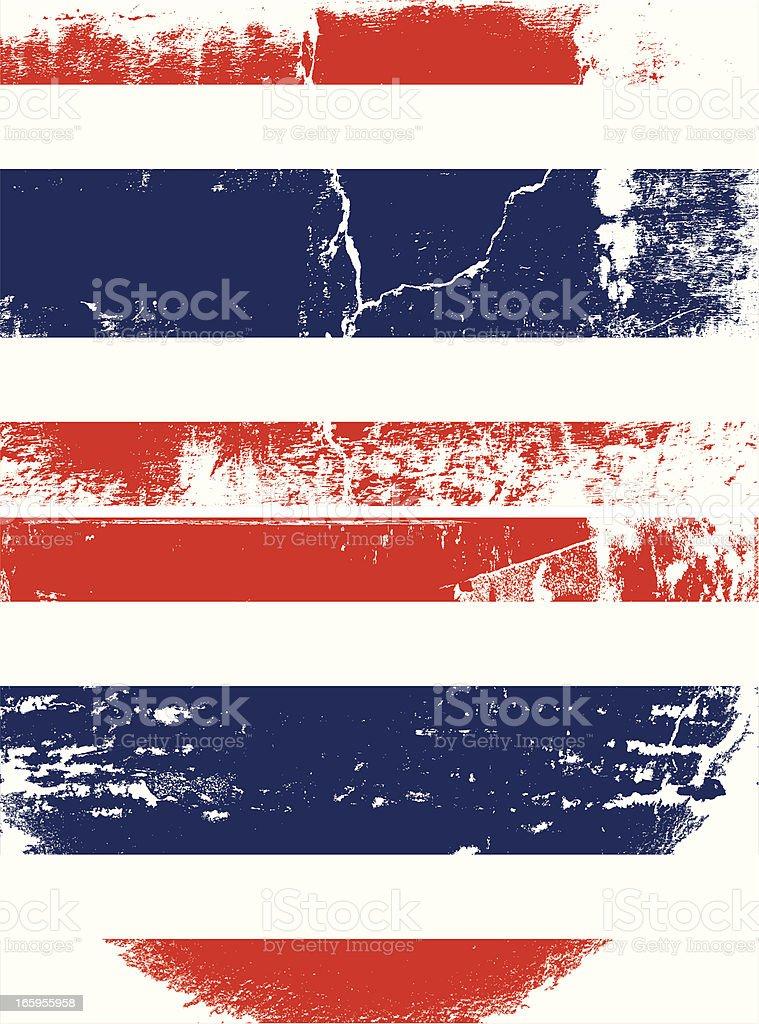 Thailand Grunge flag royalty-free stock vector art