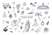 Thailand illustrations set