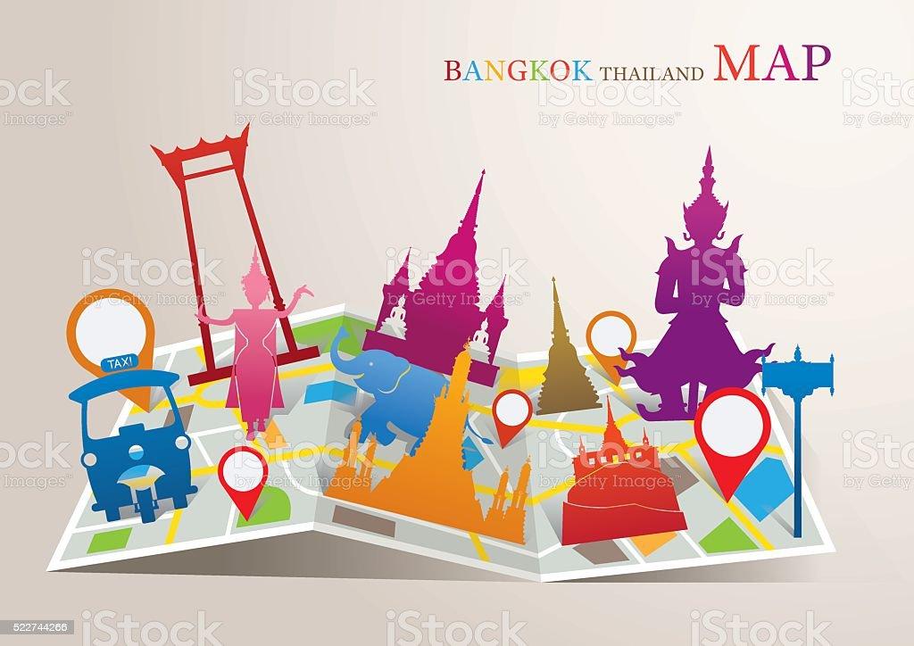 Thailand Landmarks Map