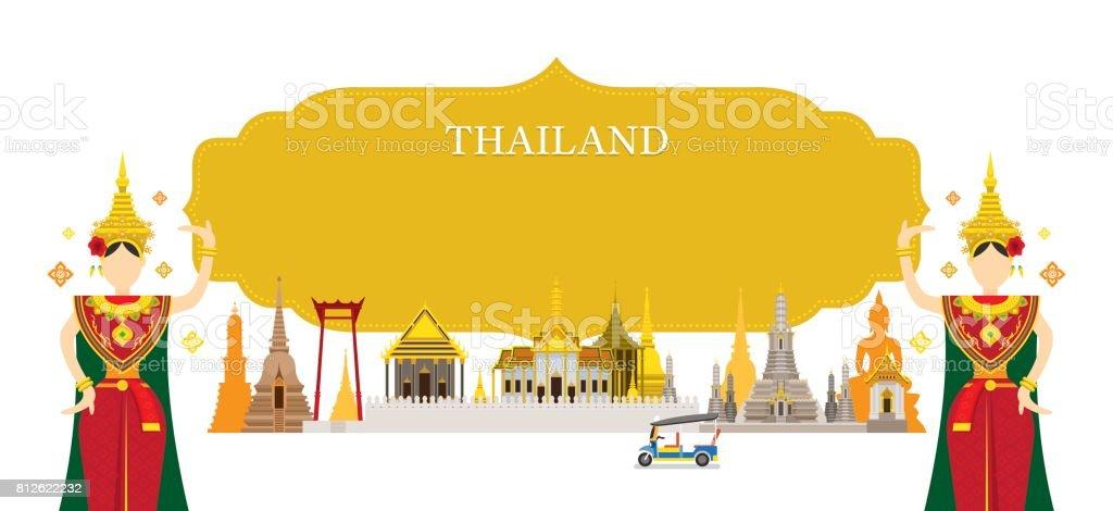Thailand Landmarks, Traditional Dance, Frame
