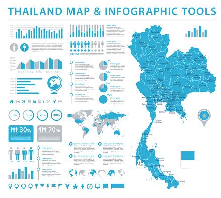 태국 지도정보 그래픽 벡터 일러스트 레이 션 0명에 대한 스톡 벡터 아트 및 기타 이미지