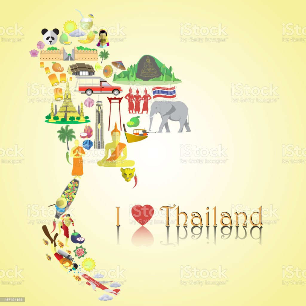 Thailand map thai color vector icons and symbols stock vector art thailand map thai color vector icons and symbols royalty free thailand map thai color buycottarizona