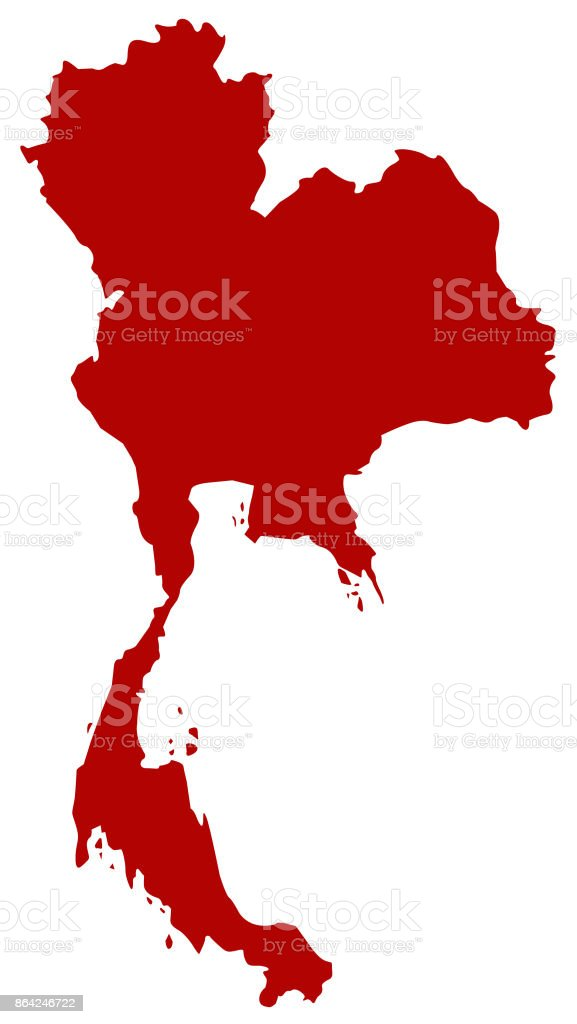 Thailand map royalty-free thailand map stock vector art & more images of asia
