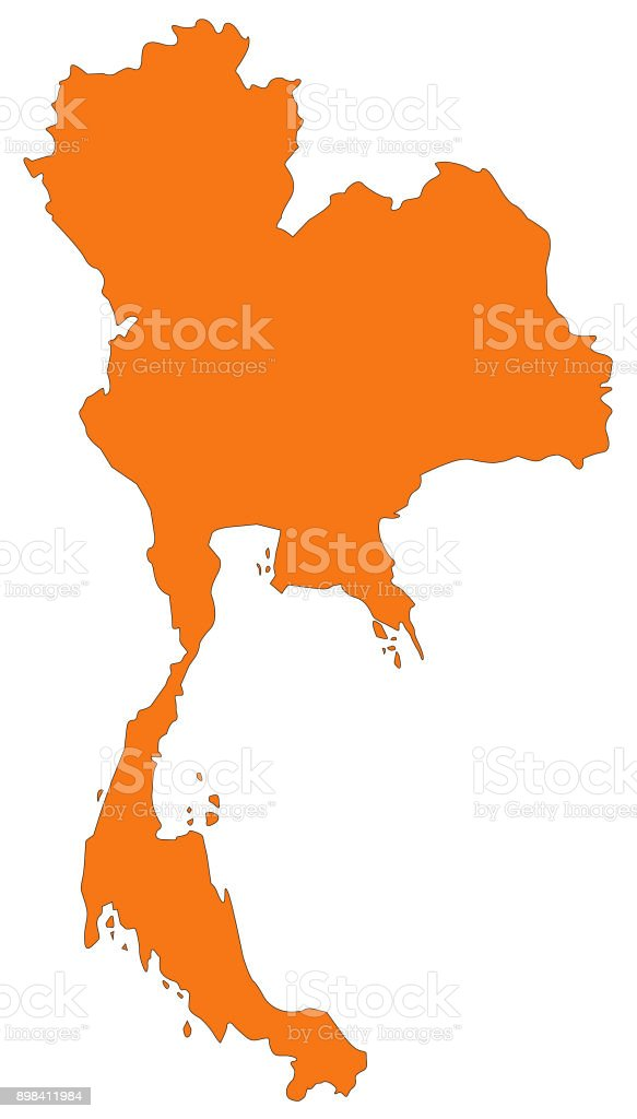 Thailand Map Stock Vector Art & More Images of Asia 898411984 | iStock