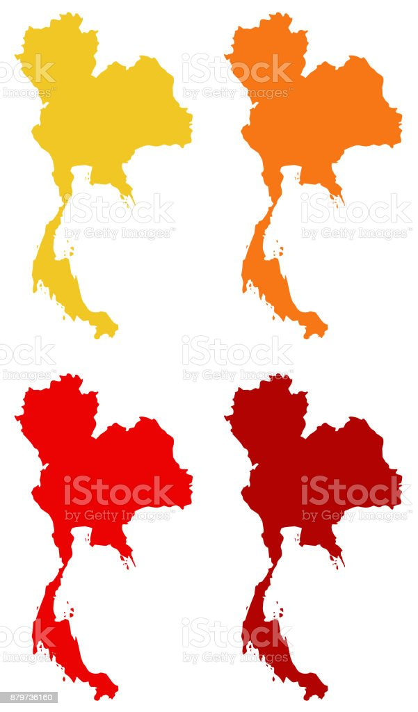 Thailand Maps Stock Illustration - Download Image Now - iStock