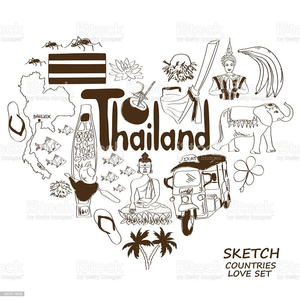 Thailand symbols in heart shape concept stock vector art more thailand symbols in heart shape concept royalty free thailand symbols in heart shape concept stock buycottarizona