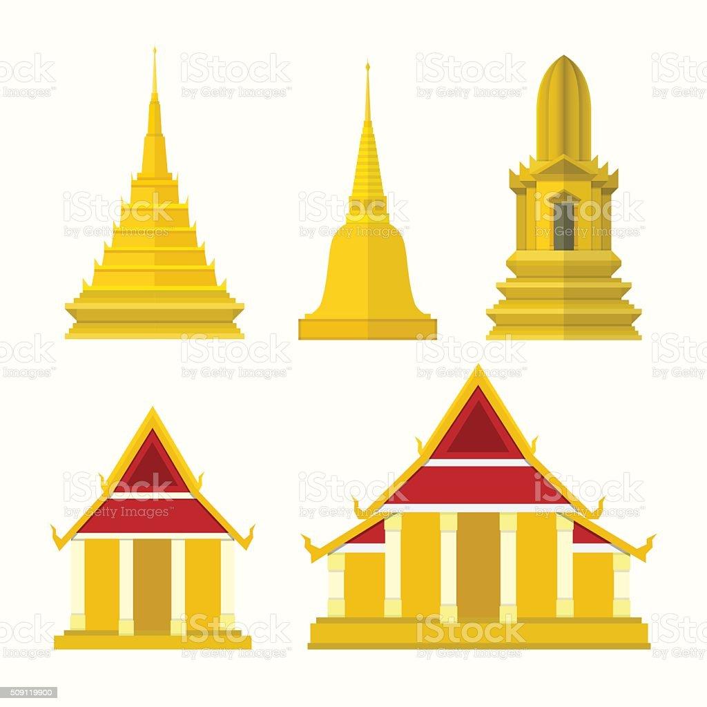 Thai temple clipart