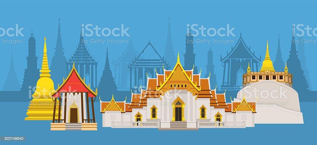 Thailand Temple Or Wat Landmark Gm522745040 91759123
