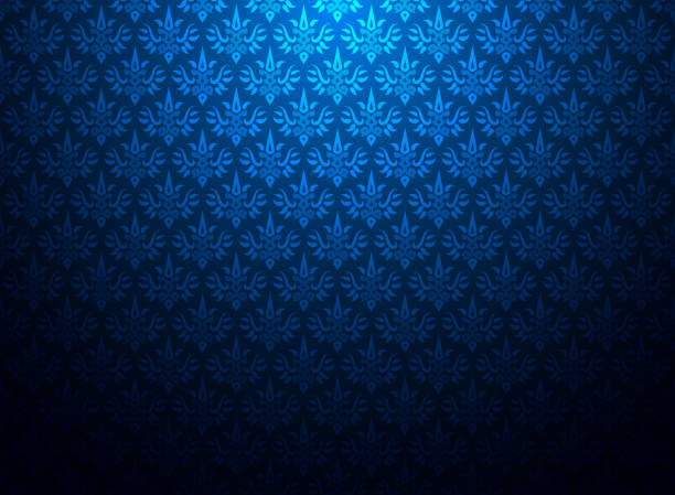Thailand Thai Vintage Pattern Texture Background Wallpaper Design Vector Stock Art More Images Of Abstract 1036295718
