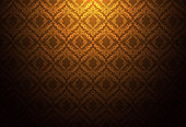 Thailand thai vintage pattern texture background wallpaper design vector.