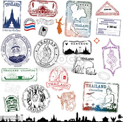 istock Thailand Travel Stamps 466745602
