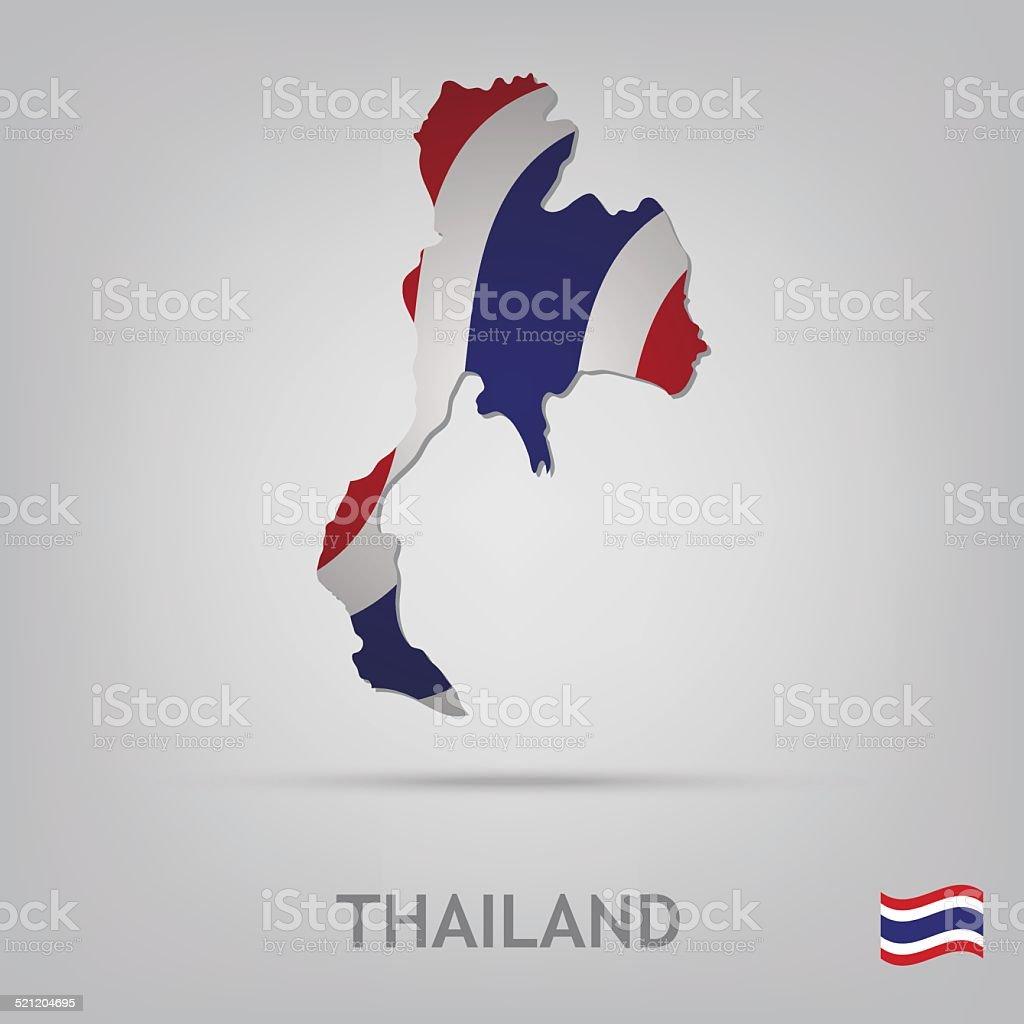 , thailand – Vektorgrafik