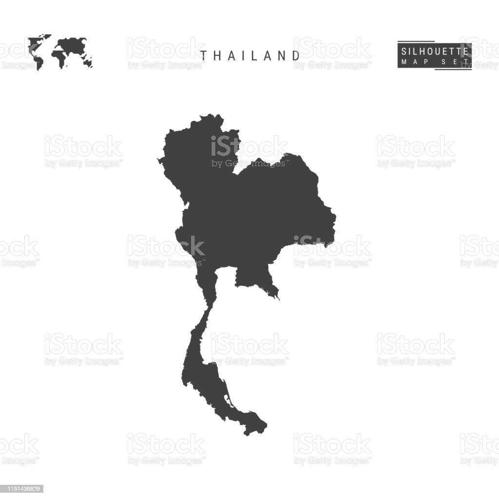 Thailändische Vector Map Isoliert Auf Weißem Hintergrund ...