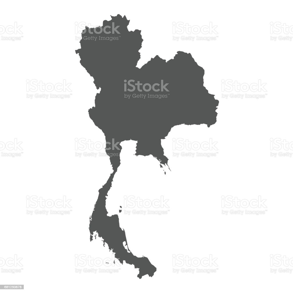Thailand Vector Map Stock Vector Art & More Images of Black ...