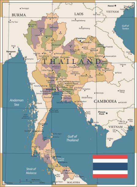 20 - thailand - vintage farbe dunkel - pattaya stock-grafiken, -clipart, -cartoons und -symbole