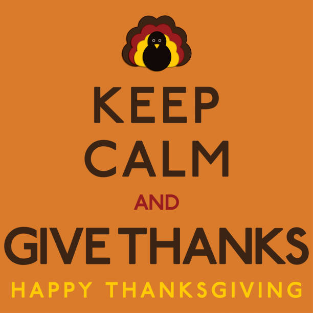 Thaksgiving Keep Calm card in vector format. Thaksgiving Keep Calm card in vector format. thanksgiving pets stock illustrations