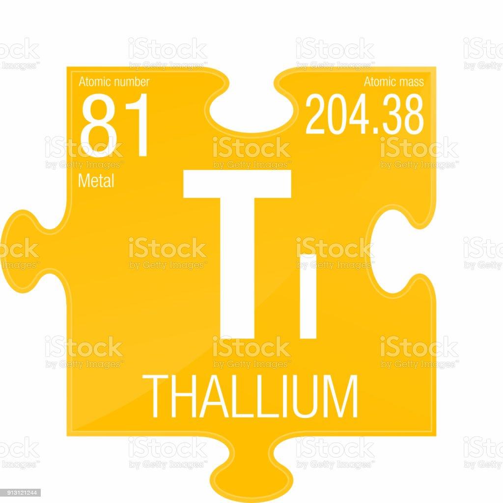 Ilustracin de smbolo del talio nmero de elemento 81 de la tabla nmero de elemento 81 de la tabla peridica de los elementos urtaz Images