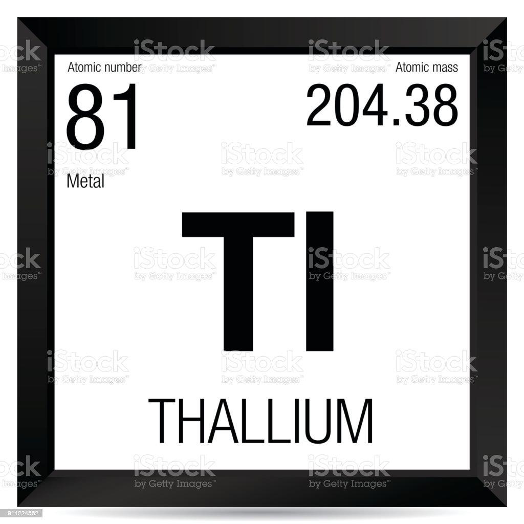 Thallium symbol element number 81 of the periodic table of the thallium symbol element number 81 of the periodic table of the elements chemistry royalty urtaz Choice Image