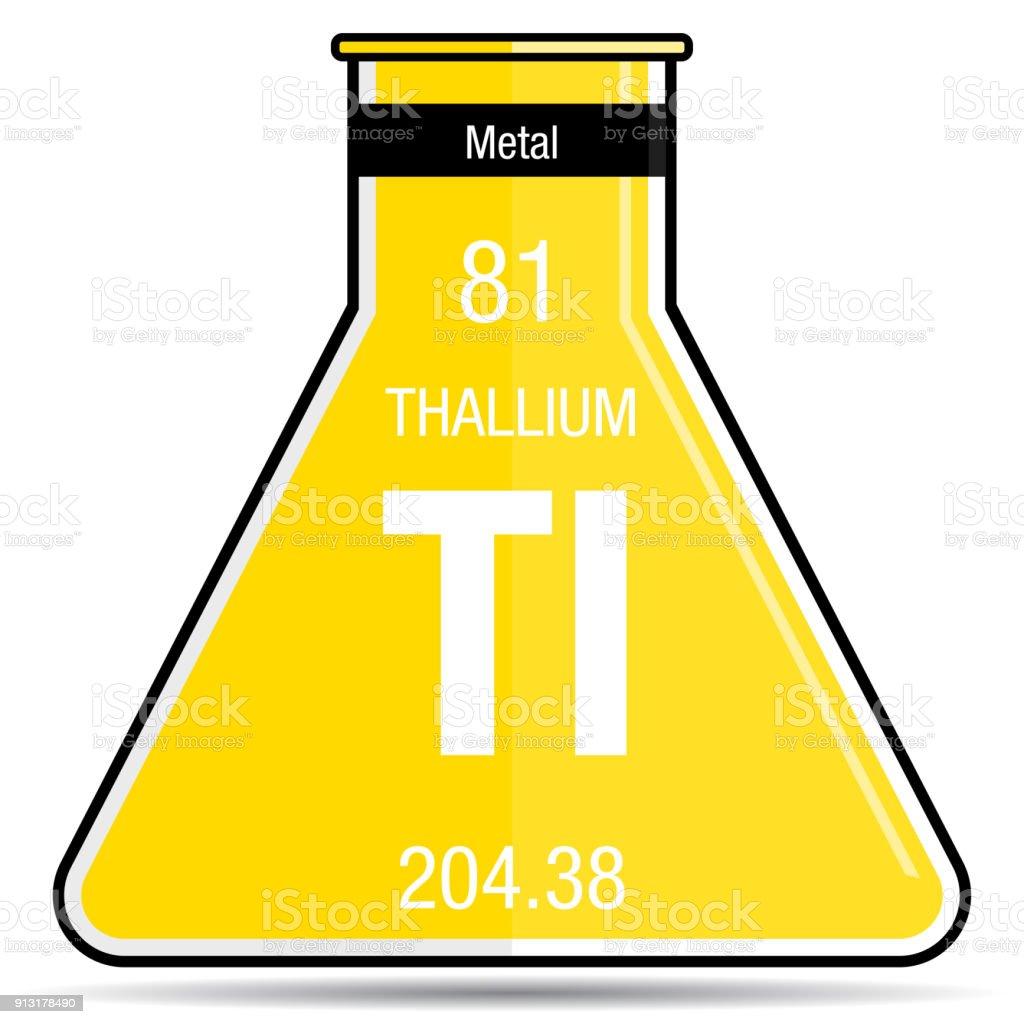 Thallium symbol on chemical flask element number 81 of the periodic thallium symbol on chemical flask element number 81 of the periodic table of the elements urtaz Choice Image