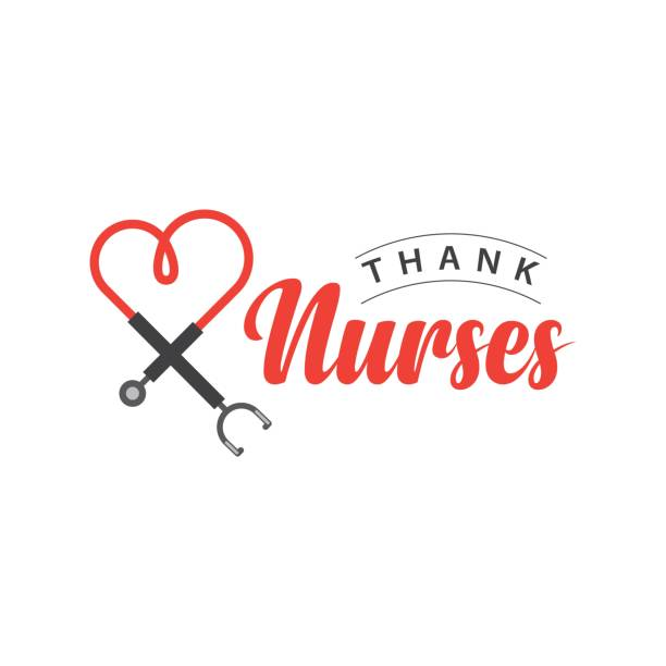 thank nurses vector template design illustration - nurse stock illustrations, clip art, cartoons, & icons