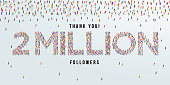 istock Thank you 2 million or two million followers design concept made of people crowd vector illustration. 1277753340