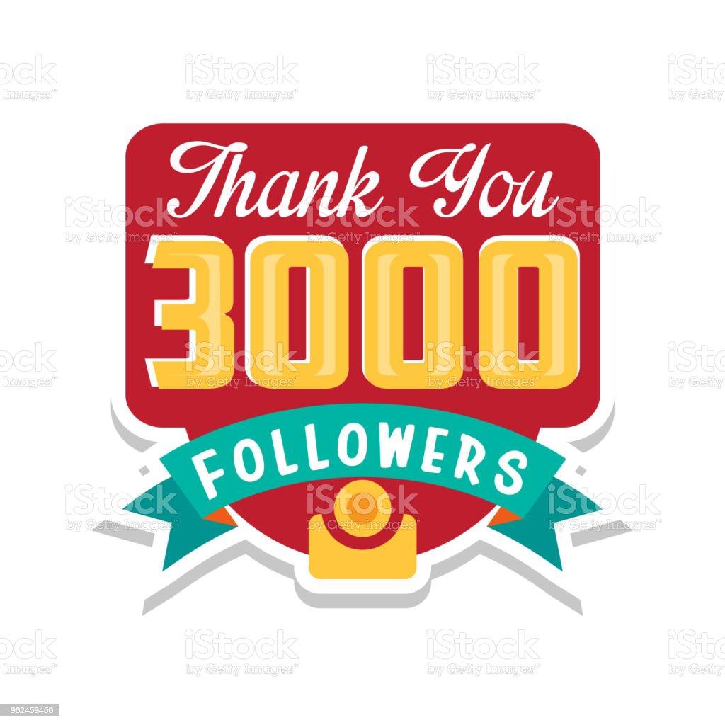Ilustración de Gracias 3000 Seguidores Números Plantilla Para Las ...