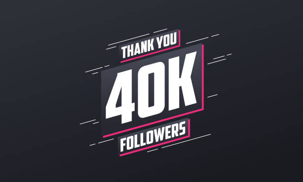 Thank you 40K followers, Greeting card template for social networks. Thank you 40K followers, Greeting card template for social networks. 40 kilometre stock illustrations