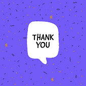 istock Thank You Banner, speech bubble, poster and sticker concept, Vector Illustration 1214532901